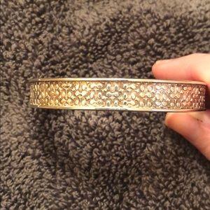 Coach silver cuff bracelet
